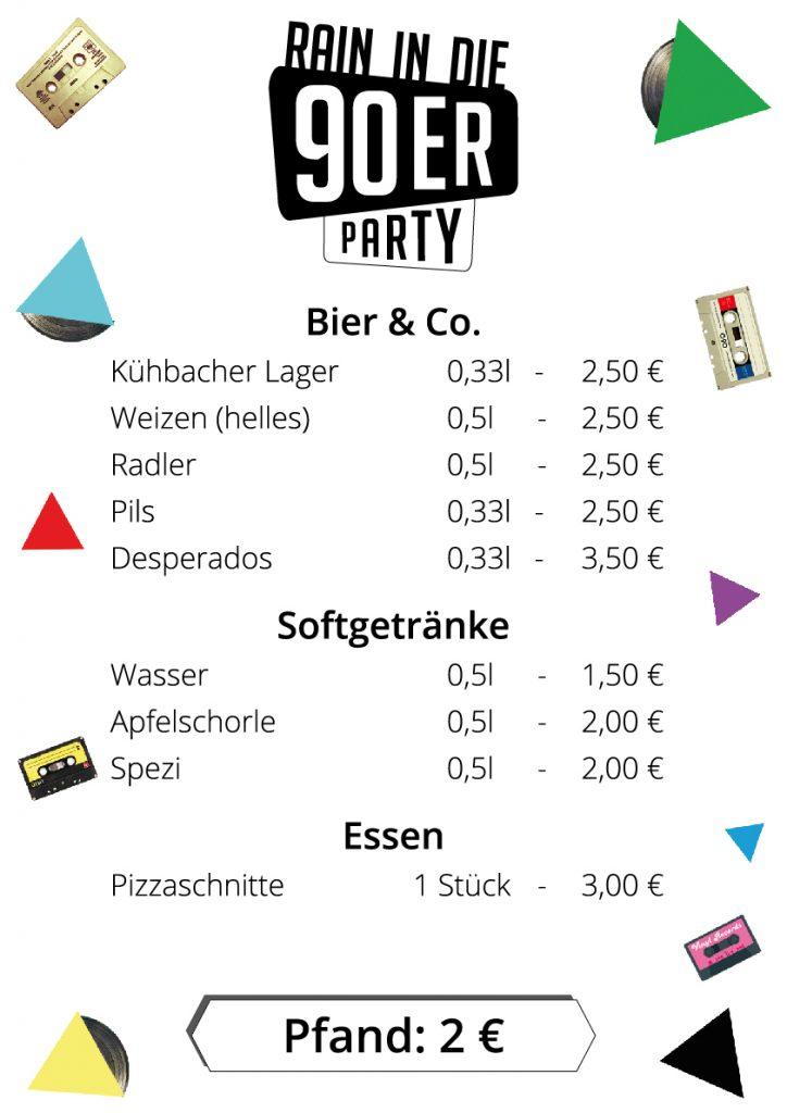 DjR_Biere_Softdrinks_Essen_90er_Party_A3